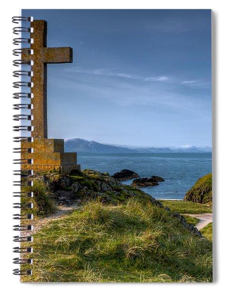 Llanddwyn Cross Spiral Notebook