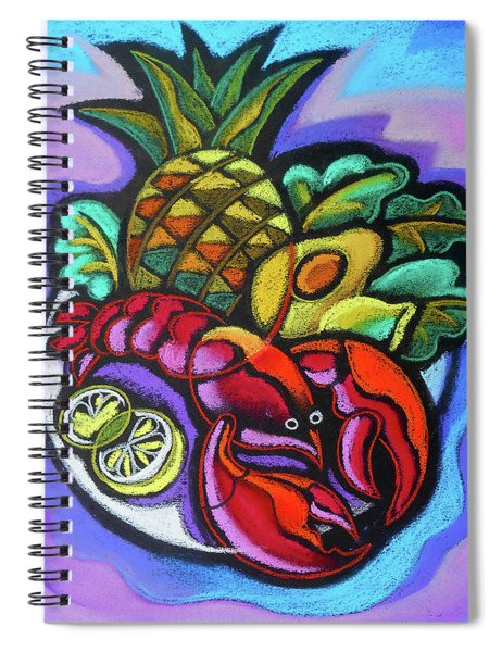 Lobster And Salad Spiral Notebook
