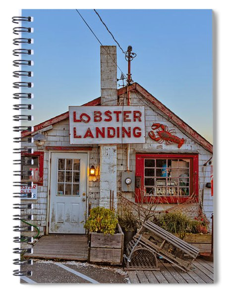 Spiral Notebook featuring the photograph Lobster Landing Sunset by Edward Fielding