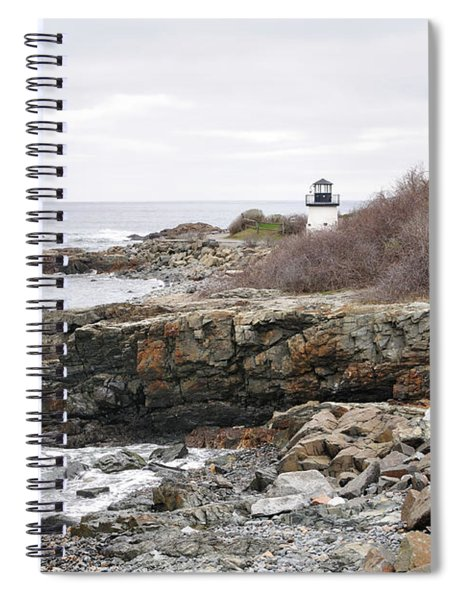 Lobster Point Lighthouse - Ogunquit Maine Spiral Notebook