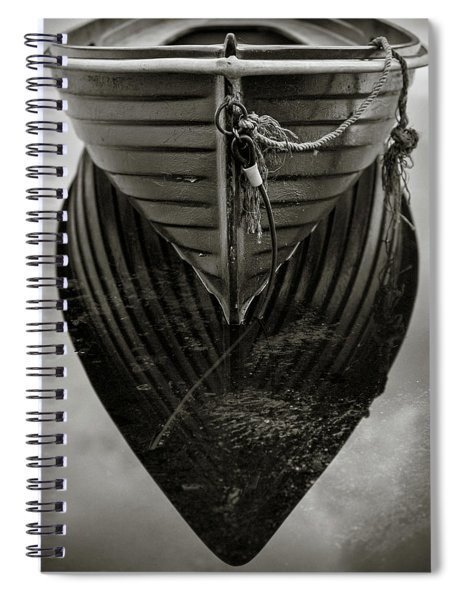 Boat Reflection Spiral Notebook