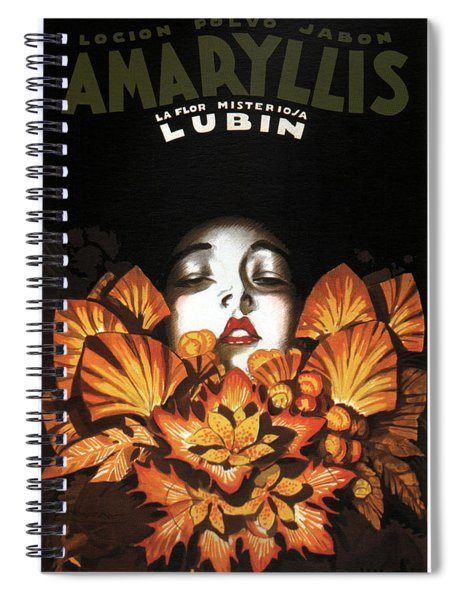 Locion Polvo Jabon Amaryllis - Vintage Lotion Advertising Poster Spiral Notebook
