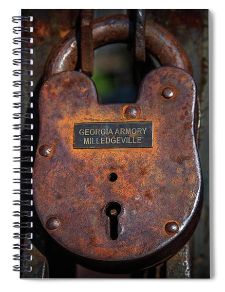 Spiral Notebook featuring the photograph Locked Up Tight by Doug Camara
