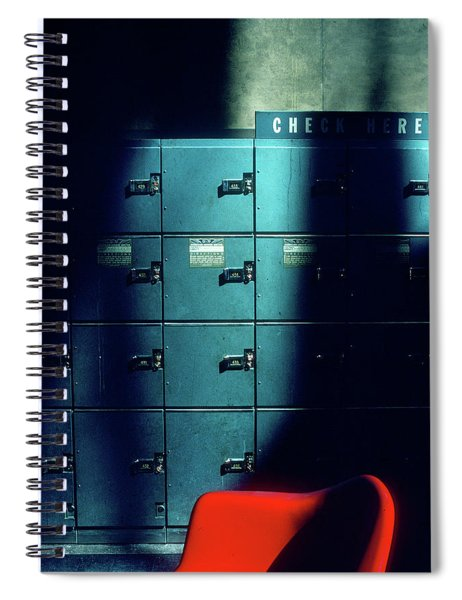 Lockers And Red Chair Spiral Notebook