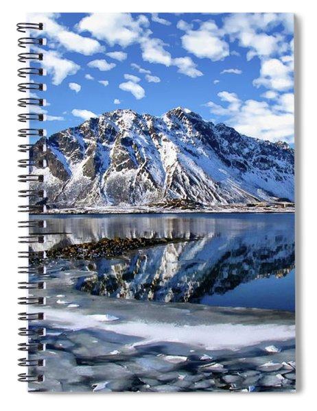 Lofoten Winter Scene Spiral Notebook