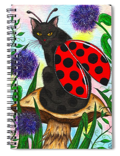 Logan Ladybug Fairy Cat Spiral Notebook