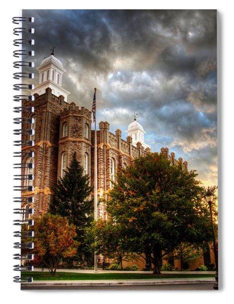 Logan Temple Cloud Backdrop Spiral Notebook
