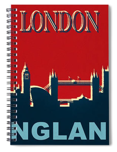 London England Skyline Spiral Notebook