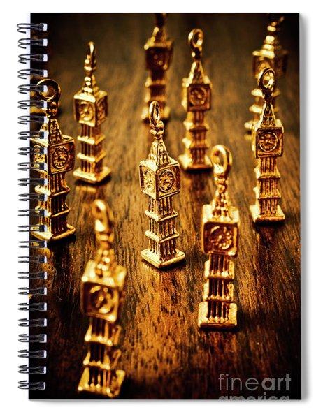 London Gold Spiral Notebook