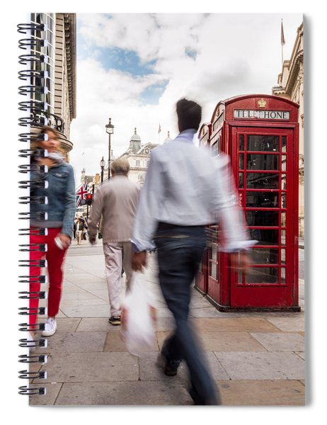 London In Motion Spiral Notebook