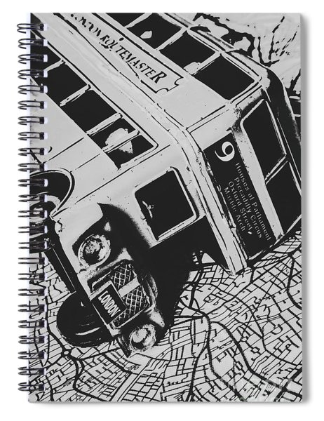 London Side Streets Spiral Notebook