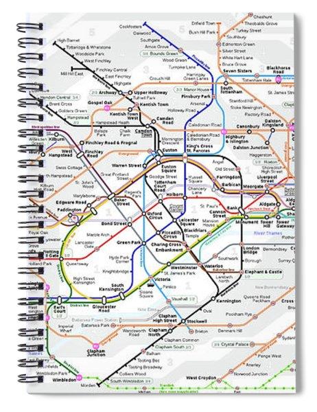 London Underground Map Spiral Notebook