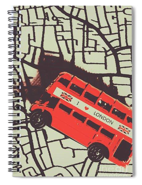 Londoners Travel Run Spiral Notebook