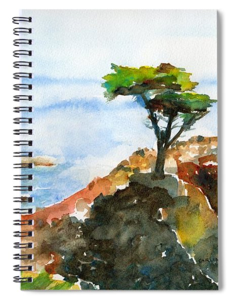 Lone Cypress Pebble Beach Fog Spiral Notebook