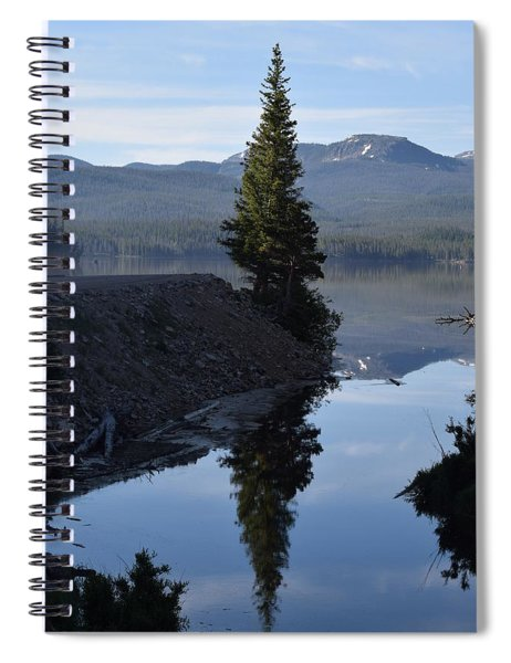 Lone Pine Reflection Chambers Lake Hwy 14 Co Spiral Notebook