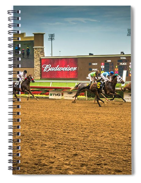 Spiral Notebook featuring the photograph Lone Star Park Grand Prairie Texas by Robert Bellomy
