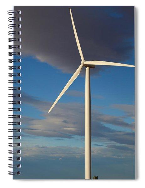 Lone Turbine Spiral Notebook