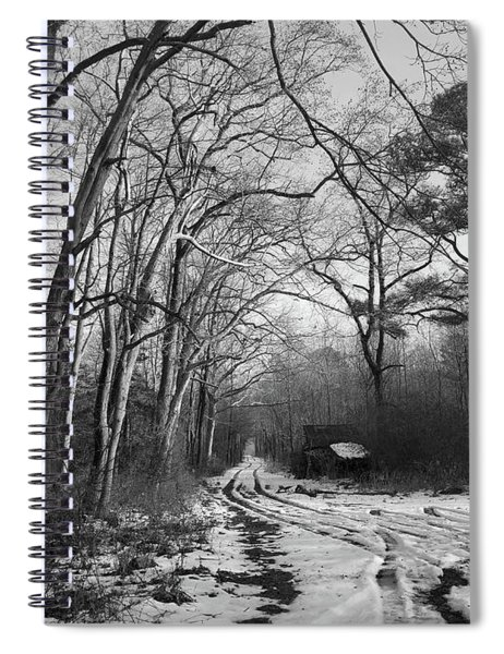 Lonely Road In Winter Spiral Notebook