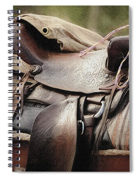 Lonely Saddle  Spiral Notebook