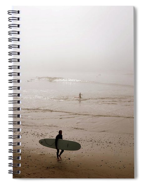 Lonely Surfer Spiral Notebook