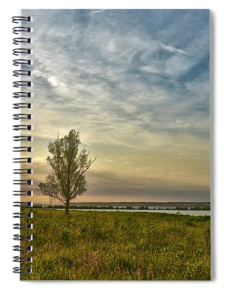 Lonely Tree In Dintelse Gorzen Spiral Notebook