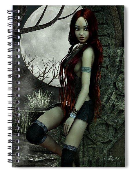 Lonesome Night Spiral Notebook