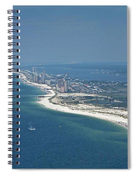 Long, Aerial, Beach View Spiral Notebook