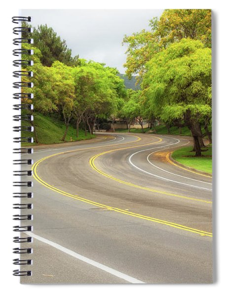 Spiral Notebook featuring the photograph Long And Winding Road by Alison Frank