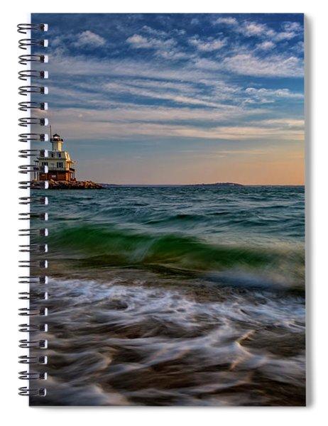 Long Beach Bar Lighthouse Spiral Notebook