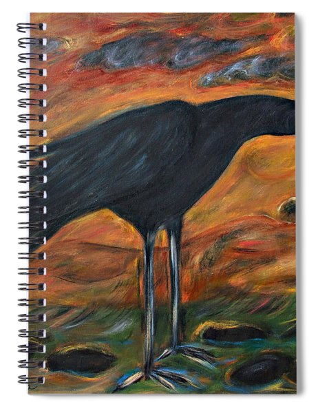 Long Legged Crow Spiral Notebook