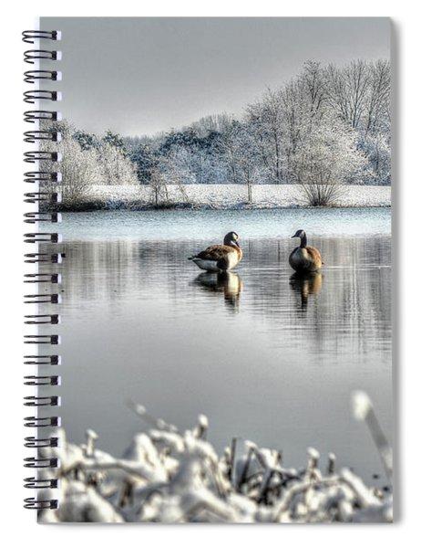 Geese At Long Run Pond Spiral Notebook