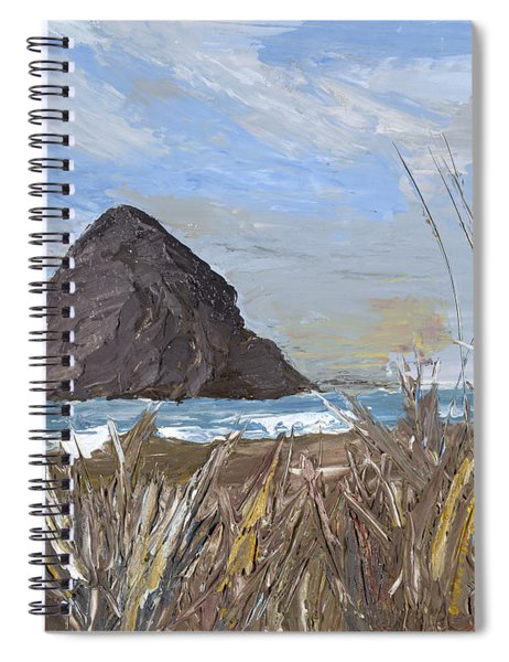 Longing For The Sounds Of Haystack Rock Spiral Notebook