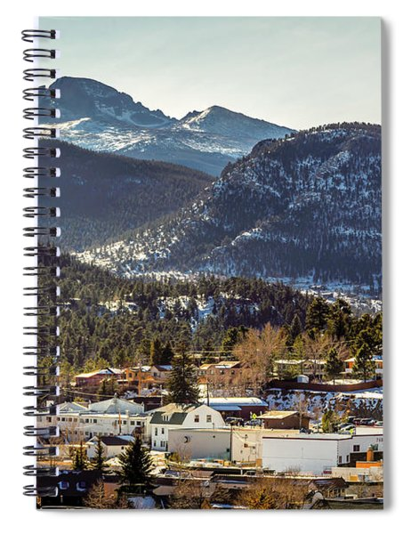 Longs Peak From Estes Park Spiral Notebook