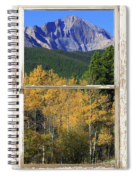Longs Peak Window View Spiral Notebook