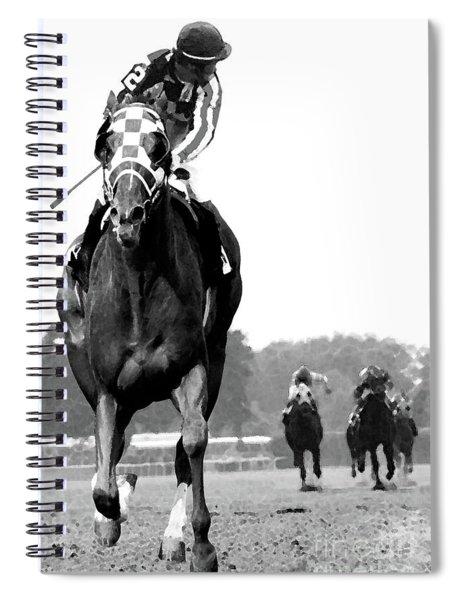 Looking Back, 1973 Secretariat, Stretch Run, Belmont Stakes Spiral Notebook