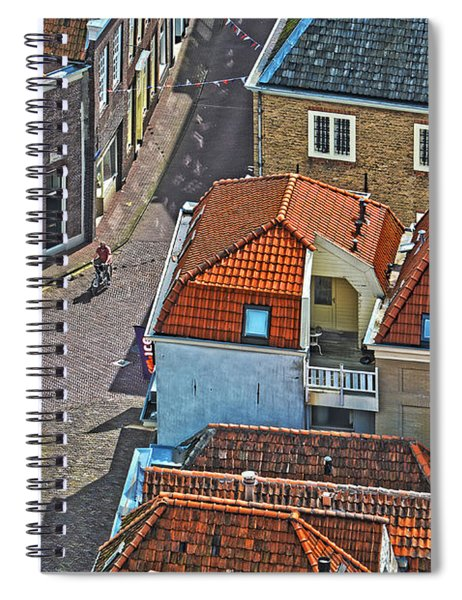 Looking Down From The Church Tower In Brielle Spiral Notebook