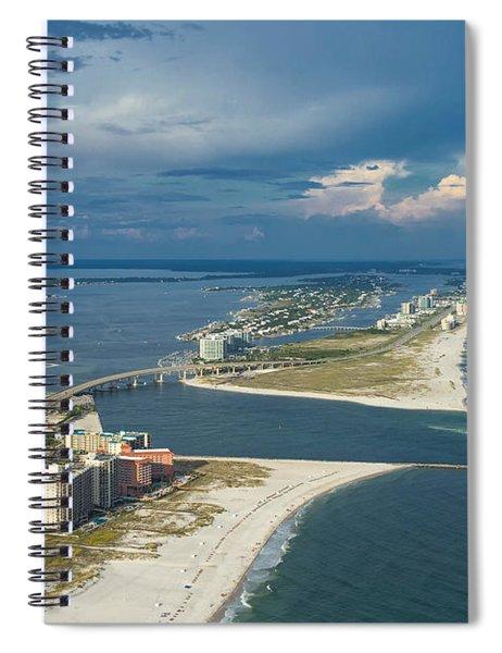 Looking East Across Perdio Pass Spiral Notebook