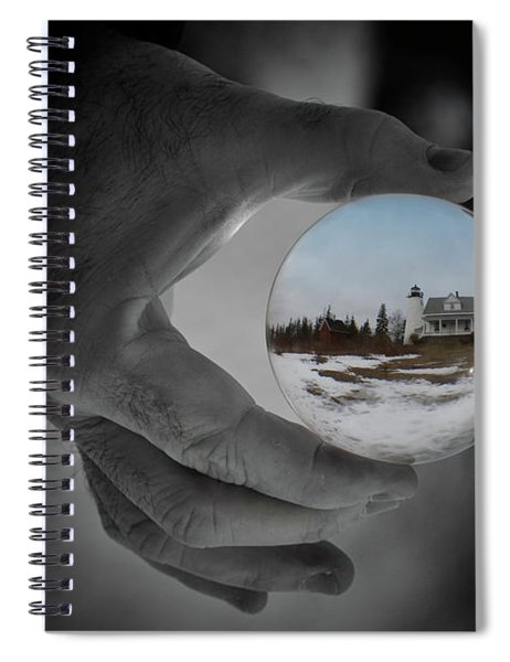 Looking Into Winter At Dice Head Spiral Notebook