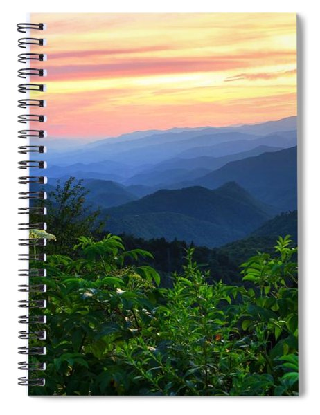 Looking Out Over Woolyback On The Blue Ridge Parkway  Spiral Notebook