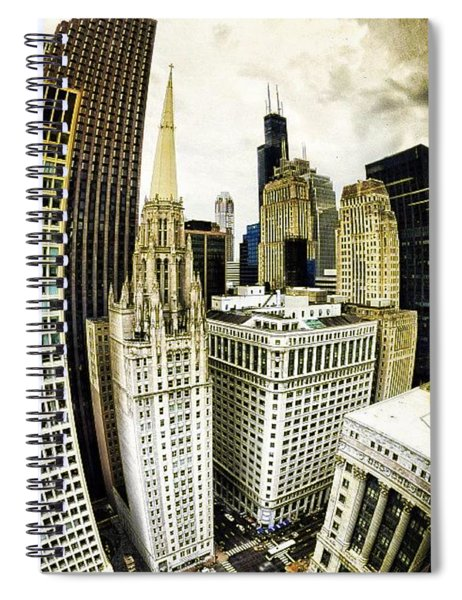 Looking Towards The Southwest And The Sears Tower Spiral Notebook