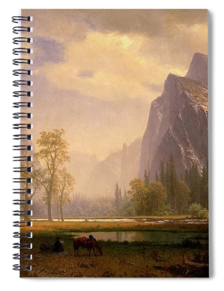 Looking Up The Yosemite Valley  Spiral Notebook