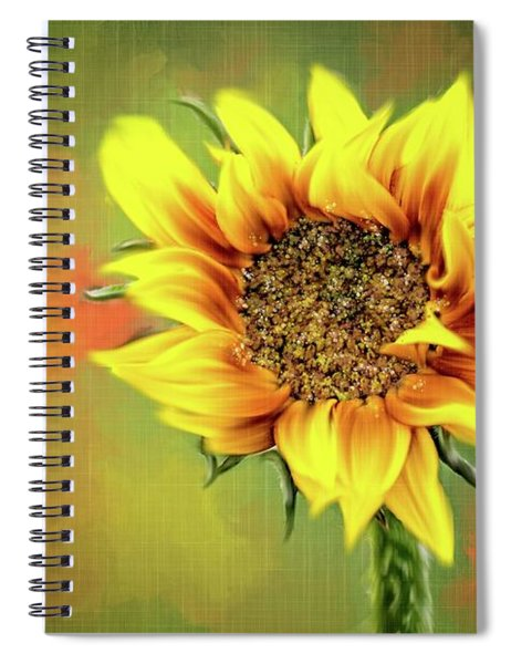 Looking Up To The Sunflower Spiral Notebook
