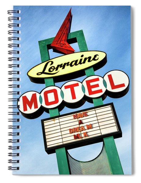 Lorraine Motel Sign Spiral Notebook