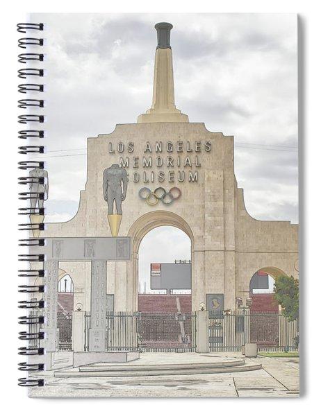 Los Angeles Memorial Coliseum  Spiral Notebook