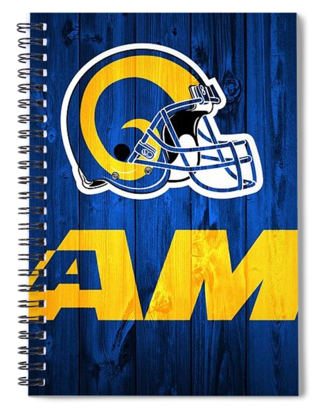 Los Angeles Rams Barn Door Spiral Notebook