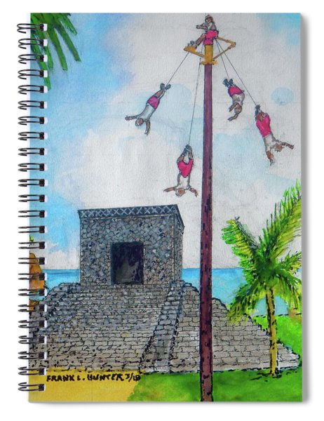 Los Valadores At The Ruins Of Tulum Spiral Notebook