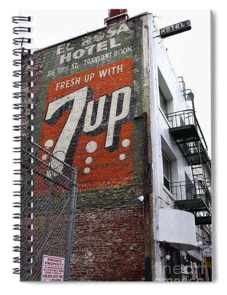 Lost In Urban America - El Rosa Hotel - Tenderloin District - San Francisco California - 5d19351 Spiral Notebook