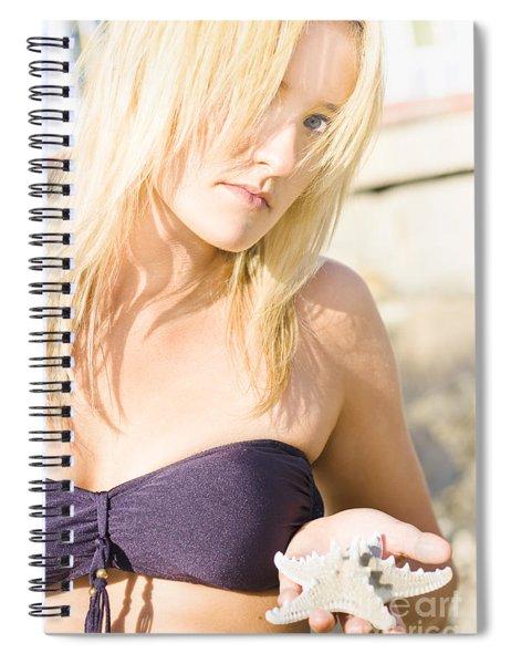 Lost Starfish Spiral Notebook