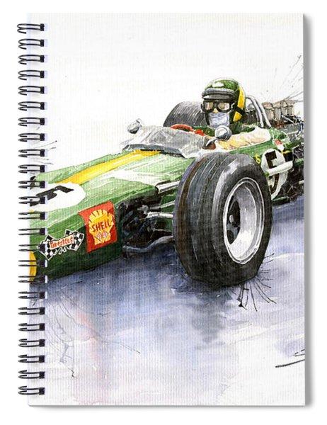 Lotus 49 Ford F1 Jim Clark Spiral Notebook