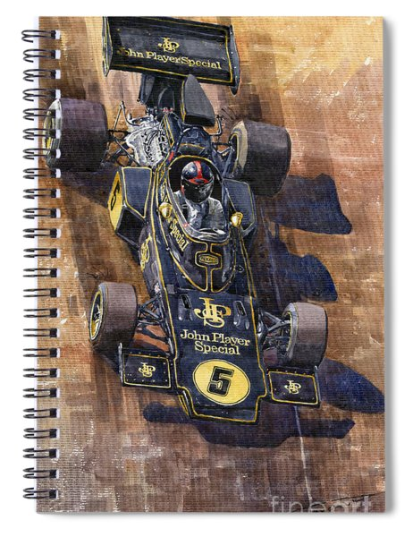 Lotus 72 Canadian Gp 1972 Emerson Fittipaldi  Spiral Notebook